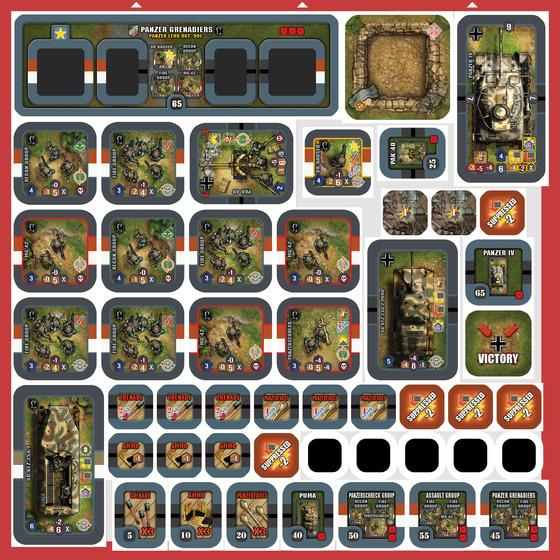 Une planche d'armée allemande