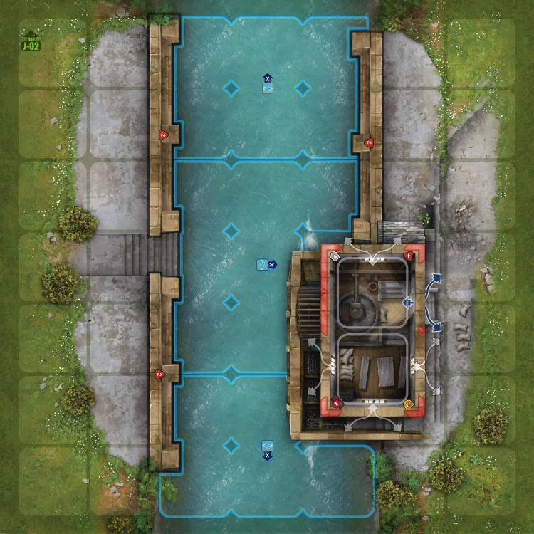Terrain tile River set - Le Moulin